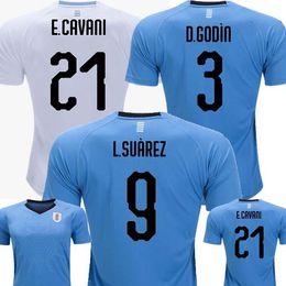 Wholesale Cup D - Thailand Quality 2018 Uruguay World Cup Suarez Cavani D GODIN Home 2019 Soccer Jerseys 18 19 Camisetas de futbol Away white Football Shirts
