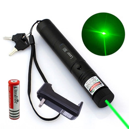Puntatore laser per online-10Mile Military Green Laser Pointer Pen 5mw 532nm Powerful Cat Toy+18650 Battery+Charger