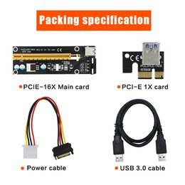 Wholesale Pci Sata Usb Card - PCE 164P-NO3 0.6M PCIE PCI-E 1X to 16X Riser Card Extender 15Pin SATA to 4Pin 6Pin IDE USB Power Mining Bitcion Miner