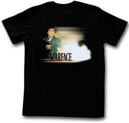 Ametralladora online-Scarface Machine Gun Blast Licencia para adulto T Shirt Classic Movie
