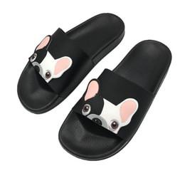 pantoffeln lustig Rabatt Mode Tier Bulldog Hausschuhe Sommer Sandalen Flip-Flops Strand Frauen Cartoon Schuhe Außerhalb Nette Lustige Badezimmer Boden Home