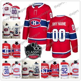 b8b35a7efa7 canadiens home jersey Coupons - Custom Montreal Canadiens Any Number Any  Name 2017 New Brand 100th