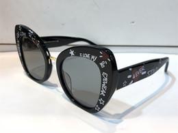 2019 mariposa italiana Gafas de sol de lujo 4319 para mujeres Estilo Barroco Gafas de sol de diseñador de marco de ojo de gato Marco de mariposa chapado en oro de diseñador italiano con caja mariposa italiana baratos