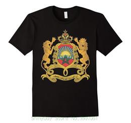 Emblème national en Ligne-Hommes T-shirts 2018 Mode Maroc Armoiries T Shirt National Emblem Marocain Tee