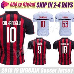 Higuain AC Milan Soccer Jerseys 2019 Football Shirt BONUCCI KESSIE ANDRE  SILVA CONTI Men 18 19 Milan CALHANOGLU KALINIC Cutrone Maillot 16c13bec0