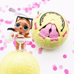 Wholesale interactive baby dolls - 1Pcs 10cm LOL Dolls in Ball Toys for Girls Adults Confetti Pop Gifts Open Egg Dolls LOL 3 Series Kids Funny Toy