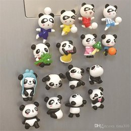 Sıcak satış Sevimli karikatür panda stereo buzdolabı çıkartmalar yaratıcı dekoratif mıknatıslar erken eğitim güçlü tahta macunu T3I0136 cheap strong magnet sale nereden güçlü mıknatıs satışı tedarikçiler