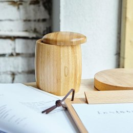 Argentina 1 UNIDS Caja de Almacenamiento de Bambú Creativo para Snack / Té Organizador de Mesa de Madera de Cocina Ecológica Ecológica Natural Puede con cubierta Suministro