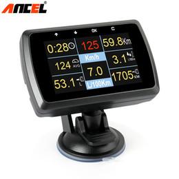 2019 сигналы тревоги привода Ancel A501 OBD2 Авто сканер смарт-датчик температуры воды Цифровой измеритель скорости дисплей датчика вождения компьютера над скоростью сигнализации скидка сигналы тревоги привода