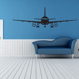 Wholesale Glass Airplane - 1pc Airplane 3D Art Decoration Wall Stickers PVC Removable Wall Stickers Home Decor Room Decoration Fashionable