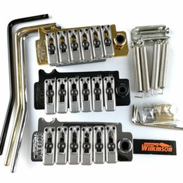 Wholesale Gold Tremolo Bridge - New Wilkinson WVS50IIK Electric guitar tremolo bridge Tremolo System silver Black and Gold