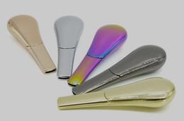La fábrica más nueva de la cuchara del arco del tubo de la forma con el imán El metal portátil de los colores puros caja de regalo del paquete oculta la hierba que fuma las tuberías Accesorios desde fabricantes