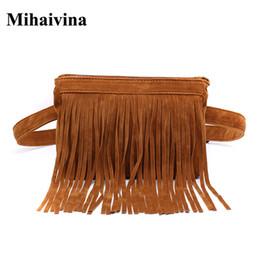 Mihaivina mode taille sac pour les femmes vintage gland sac ceinture femmes  taille mode fanny pack argent poche promotion sacs d argent pour la taille 18d5357e75b