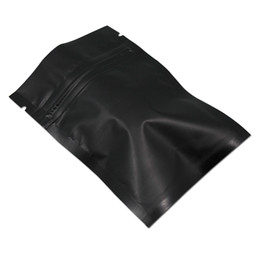 Variety of Sizes for Flat Black Poly Plastic Zip Lock Bag Pouch M12