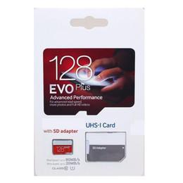 Wholesale 128gb Sd Micro - 2018 Top Selling White EVO Plus+ 128GB 64GB 32GB 16GB microSDXC Micro SD 80MB s UHS-I Class10 Mobile Memory Card