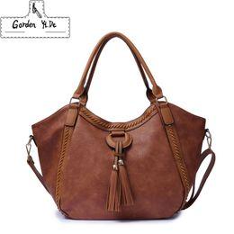Fashion Hobos Women Handbag PU Leather Tassel Women Shoulder Bag Female  High Capacity Casual Tote Bags For Ladies Handbags 02fe8250a53d2