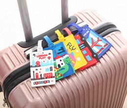 Tag da bagagem do silicone da forma nova, Tag do curso para a mala de viagem da bagagem, saco, trouxa, com 5 cores diferentes de Fornecedores de remendos bordados de qualidade
