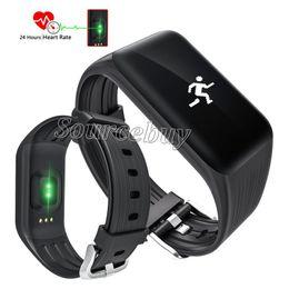 Wholesale Waterproof Watch 24 Hours - K1 Smart Bracelet 24 Hours Real-time Heart Rate monitor Fitness Watch Swim-proof Waterproof Sports Bluetooth Tracker 0.66inch OLED Wristband