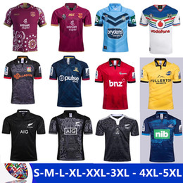 Wholesale national green - 2017 NRL National Rugby League top quality Queensland QLD Maroons Rugby jerseys NSWRL Holden NSW blue men euro Extra large size S-4XL-5XL
