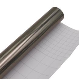 Wholesale black chrome wrap - 5meters X 60CM Car Electro Coating Foil film Chrome Vinyl Wrap Mirror Chrome Gray black Film Sticker Chrome Car Body Wrap Covers