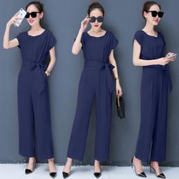 82a47aeb6a high waist jumpsuits Canada - Summer Vogue Short Sleeve High Waist Jumpsuits  Women O Neck Solid