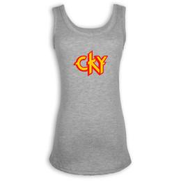 a3a24020360 Funny CKY Symbol Tank Top estampado sin mangas para mujer Lady Femme Cool  Summer chaleco sin mangas de algodón camiseta rebajas camisas sin mangas ...