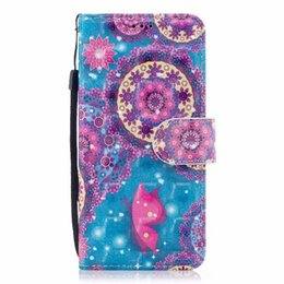 Wholesale Red Apple Trees - 3D Leather Wallet Case For Samsung Galaxy (A8 Plus,A7)2018,(A5,A8)2018 Flower Butterfly Tree Dreamcatcher ID Card Slot Cover Flip Pouch