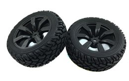 Wholesale Plastic Rims For Cars - 4pcs 1 10 RC Crawler parts Wheel rim and rubber skin modified pull tyre run flat tire for 1:10 model toy car