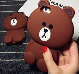 Oso 3D caso animales de dibujos animados lindo oso de peluche oso de silicona caso del iphone para iphone x 6 6 plus 7 7 plus s8 s8plus caja del teléfono celular desde fabricantes