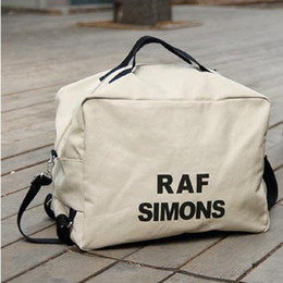 Wholesale Dropped Shoulder - New Unisex Women Canvas Shoulder Bag Handbags Totes Men Raf Simons Printing Free Drop Shipping