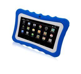 a33 tablet Скидка Лучшие дети Tablet PC 7 дюймов Quad Core дети tablet Android 4.4 Allwinner A33 Google player wifi большой динамик защитная крышка A151