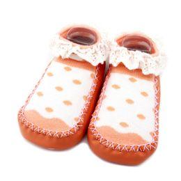 Wholesale girls home sock - Baby Girl Shoes Autumn Baby Girls Soft Anti-slip Bottom Toddler Socks Rubber Soles Home Shoes