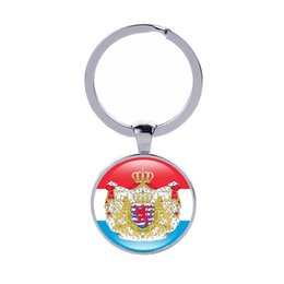 Wholesale Cars England - Coat of arms of Keychain Luxembourg Monaco England UK Country Flags Ker rings Men Women Jewelry Car Key holder Wholesale