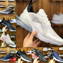 Wholesale plastic shock - New 2018 Original Air Vapormax 270 Running Shoes Outdoor Casual Run Sneakers Black White Red Shock Off Women Men 27c puls Requin Chaussures