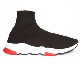 Zapatillas flash online-Oferta Flash Zapatillas de calcetines Zapatillas de entrenamiento de velocidad Zapatillas de deporte con caja Zapatillas altas Zapatillas Zapatillas de carreras Zapatillas de deporte Hombre Mujer Zapatos deportivos Negro Rojo Oreo