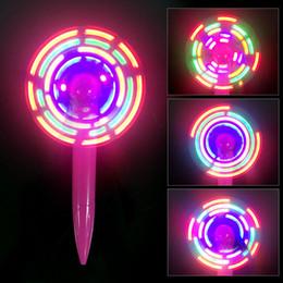 ventiladores piscando Desconto Acende-se Pen Fan com slogan LED piscando, Flash Fan Pen manter-se fresco neste verão com o cool + caneta ao redor.