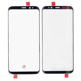 batería de la caja xperia Rebajas Nuevo negro original S8 más reemplazo de la lente de cristal de la pantalla externa delantera para el digitalizador del panel de la pantalla táctil de Samsung S8