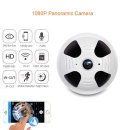 Wholesale Wireless Cctv 2mp - 360 Degree Panoramic Camera HD Wireless WiFi IP Camera 1080P 1.44MM Lens Fisheye 2MP Home Video Security CCTV Cam