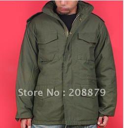 2019 chaqueta térmica de moda para hombre Abrigo de hombre, Chaqueta M65 chaqueta clásica a prueba de viento de los hombres, Chaqueta de moda (EMS 45%) Balck Green chaqueta térmica de moda para hombre baratos