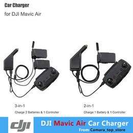 Argentina Cargador de coche Para DJI Mavic Air Hub de carga inteligente de la batería Mavic Air Conector de coche Adaptador USB Cargador de coche de batería múltiple Suministro