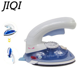 Argentina JIQI Mini portátil de vapor de ropa de hierro eléctrico 180 grados ropa giratoria portátil de viaje cepillo de tela de planchado UE enchufe Suministro
