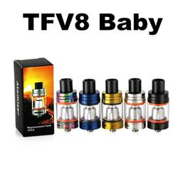 Atomizadores t8 online-solo tfv8 el kit de kits de tanques de reemplazo de bestias bebé kits Q2 X4 T6 T8 atomizador clearomizer boquilla e cigarrillo cig bobinas bobinas clon