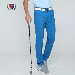 мужские стильные тонкие длинные брюки Скидка New summer golf pants men  long trousers quick dry sports pants for Korean style slim 5 colors breathable top quality