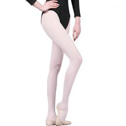 2019 collant bianco di ragazza 2018 Womens and Girls Professional White Velvet Professional Balletto Tap Calzamaglia Danza Ginnastica calze autoreggenti collant bianco di ragazza economici