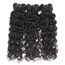 Wholesale Indian Wavy Hair For Cheap - Brazilian Virgin Hair Natural Wave Pack of 3 Cheap Wavy Human Hair Bundles for Wholesale Natural Black Color