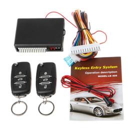 Wholesale Car Remote Control Keyless - New Universal Car Remote Control Central Kit Door Lock Locking Keyless Entry System Car Alarm Security