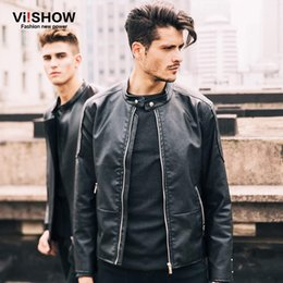 Wholesale Lether Jacket Men - Man Lether Jackets Pu Leather Jaqueta Masculinas Inverno Couro Jacket Men Jaquetas De Couro Men's Winter Leather Jacket