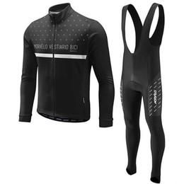 Jersey de ciclismo de moda online-Morvelo 2019 equipo de moda Ciclismo mangas largas jersey bib pantalones conjuntos personalizables ventas directas Protección contra el frío entrega gratuita 61034