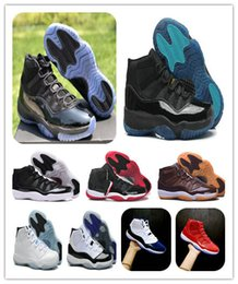 Wholesale caps men cotton - 11 XI Blackout Prom Night Cap and Gown bred Concord basketball shoes 11s Gym Red WIN LIKE 96 82 Midnight Navy Sports Sneakers