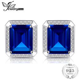 2019 pietra di gemme di lusso Jewelrypalace Men Luxury 8.6ct creato Alessandrite Sapphire Gemelli in argento sterling 925 gioiello di pietra preziosa sconti pietra di gemme di lusso